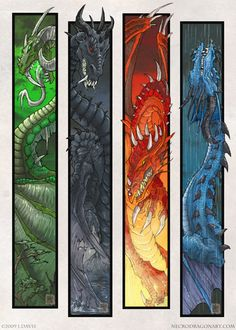 Four Dragons by drakhenliche.deviantart.com on @deviantART