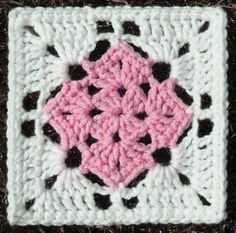 "Crochet Granny Square Patterns Free crochet ""square in a square"" pattern Grannies Crochet, Crochet Squares Afghan, Bag Crochet, Granny Square Crochet Pattern, Crochet Blocks, Crochet Crafts, Crochet Projects, Granny Squares, Double Crochet"