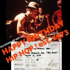 HipHop is 42 years old today! Too old to call it a fad but too young to call it played out!