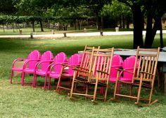 pink chairs!!! Miranda lambert and blake Shelton's junk gypsy reception!