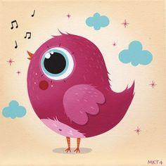 *** Bird Illustration, Graphic Design Illustration, Art Mignon, Newspaper Art, Bird Applique, Image Fun, Cute Animal Drawings, Cute Birds, Watercolor Cards