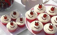 Red Nose Red Velvet Cupcakes  for more recipes go to the pink wisk.