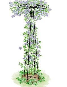 For Clematis or Mandevilla - Garden Trellis: Essex Umbrella Shaped Tuteur Gardener's Supply Garden Art, Garden Design, Plant Supports, Garden Trellis, Wisteria Trellis, Obelisk Trellis, Wall Trellis, Plant Trellis, Wisteria Garden