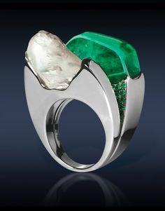 Emerald Diamond Ring. Jacob Co.