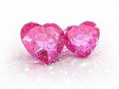 Pink diamond hearts