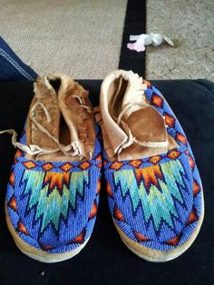 Beaded shoes.                                                                                                                                                                                 More