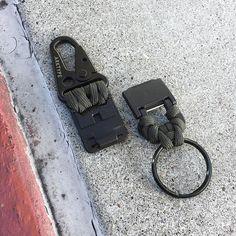 "2-Pack 10"" Black 550 Paracord Wrist Strap Swivel Lanyard Camera Flashlight Key"