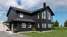 Vinkelhus med saltak | Eidanger | Et moderne hus fra Blink Hus