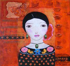 Red Dot Luna Chick By Christina Fajardo