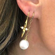 Hanging Earrings, Pearl Earrings, Ashley Brooke Designs, Silk Joggers, Yellow Lace Dresses, Crochet Cardigan Pattern, Simple Girl, Dress Picture, Pretty Hairstyles