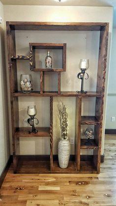 Bookshelf Rustic Wooden Bookshelf Wood Bookshelf by HeartOfTimber