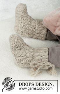 Baby Knitting Patterns, Baby Booties Knitting Pattern, Knitting For Kids, Knitting Stitches, Baby Patterns, Free Knitting, Knitting Projects, Knitting Socks, Crochet Patterns
