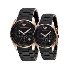 af30c2dd73d Buy Emporio Armani AR5906  amp  AR 5905 Couple Black Dial Watch   lowest  price ever