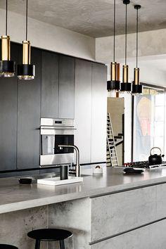 Индустриальная роскошь: стильный лофт в Мельбурне   Пуфик - блог о дизайне интерьера