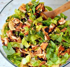 Chopped BBQ Chicken Salad Recipe | Growing Up Gabel