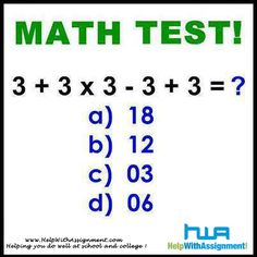 Math test, for teaching kids PEMDAS and order of operations Tricky Questions, Math Questions, This Or That Questions, Reto Mental, Current Affairs Quiz, Maths Puzzles, Math Activities, Math Quizzes, Math Enrichment