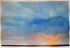 Lisa Grossman / watercolor Lightning Strike
