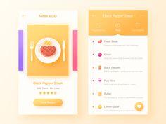 Daily UI #06    It's food app for black pepper steak~    Hope you like it.