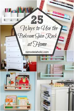 IKEA's versatile Bekvam spice rack can be used for many different purposes! Check out these 25 ways to use IKEA Bekvam spice racks around your home. by mildred Ikea Spice Rack Hack, Spice Racks, How To Paint Ikea Spice Rack, Spice Rack Uses, Bekvam Ikea, Ikea Lack Table, Home Organisation, Ikea Furniture, Furniture Projects