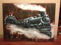 Custom made to order Train painting starting at $100 &  Free shipping!