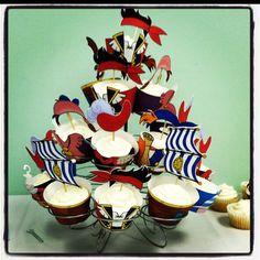 B's Jake and the Neverland Pirates Birthday Cupcakes!!