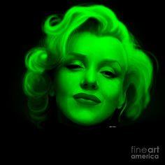 Marilyn Monroe In Green. Pop Art Digital Art by Rafael Salazar