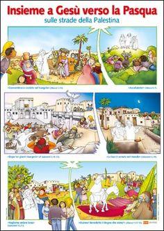 Insieme a Gesù verso la Pasqua sulle strade della Palestina (poster)