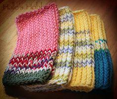 Scrappy loom knit dishcloths