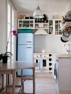 Cocinas (muy) pequeñas por las que morimos de amor. GANCHERA!! #cocinaspequeñasdepartamento