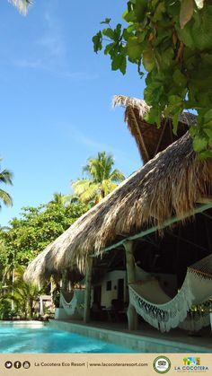 Feeling tired? just need to try our hammocks! #Relax #Travel #ElSlvador #LaCocoteraEcoResort