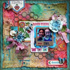 Layout: Photo Op ***Scraps of Darkness*** using Bohemian Bazaar from scrapbook.com #graphic45 #layouts