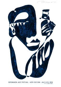 Art poster for Copenhagen Jazz Festival 2018 by Christiane Spangsberg