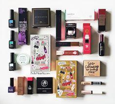 Makeup flatlay haul