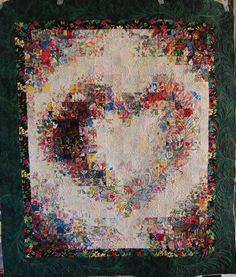 Beautiful quilt! Watercolor Heart.  One day when i have so many scraps that i don't know what to do with them.