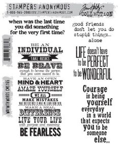 Tim Holtz Cling Rubber Stamps WAY WITH WORDS cms165 at Simon Says STAMP!