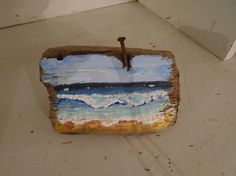 Hand Painted Ocean Scene Paintedon an Amazing Piece of