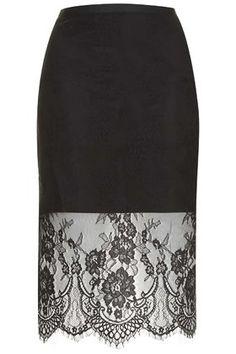 Topshop Soft Lace Pencil Skirt #KatalinaGirl #blogger