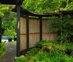 Bamboo Screen Fence - this natural screening can be used as a privacy screen or shading.....Love this <3