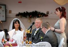 Chief Bridesmaid making a speech