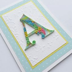 quilled monogram - Google Search