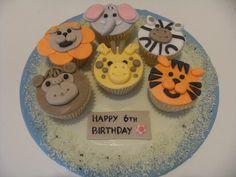 Jungle Cupcakes Jungle Cupcakes, Happy 6th Birthday, Bear Cakes, Desserts, Food, Tailgate Desserts, Deserts, Essen, Postres