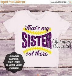 SALE Softball Sister Shirt Fan Toddler Girl Clothes Baby