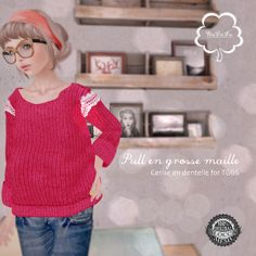 NuDoLu Pull en grosse maille Cerise for TGGS AD | Flickr - Photo Sharing!