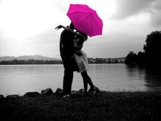 Love is in the air.  Like the black & white with the pop of hot pink.