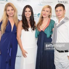 Katie Lee poses with Social Life Magazine Editor-In-Chief Devorah Rose and her siblings at the the 4th Annual St. Barths Hamptons Gala