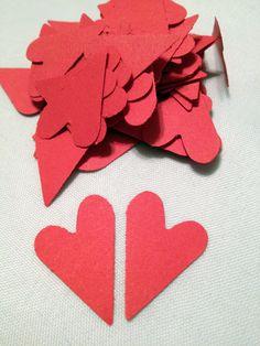 72 Heart Die Cuts by MonAmiePaperie on Etsy, $2.44