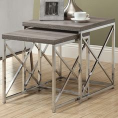 Found it at Wayfair - Myers 2 Piece Nesting Table Set