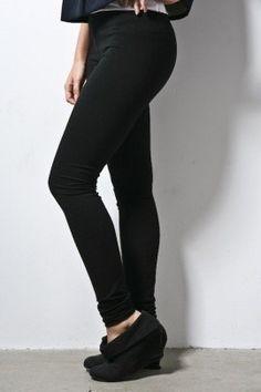 "Leggings Stretch Pants Full Length Premium Basic 31"" inseam Small Medium Large. $26.00, via Etsy."