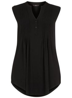 Evans Black Pintuck Jersey Shirt - Tops & Tunics - Clothing Bought this yesterday and its fab on