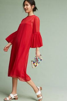 Anthropologie Chiffon Bell-Sleeve Dress https://www.anthropologie.com/shop/chiffon-bell-sleeve-dress?cm_mmc=userselection-_-product-_-share-_-4130061922156